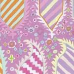 Kaffe Fassett Striped Heraldic Pink